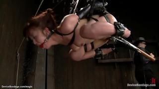 Japanese slave in extreme bondage