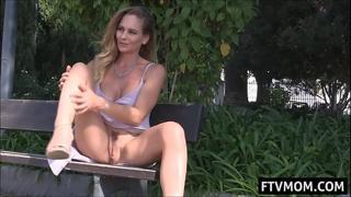 milf upskirt and masturbation in public