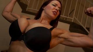 Muscular Secretary Dominates the Boss